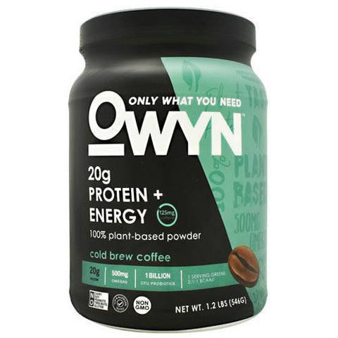 Only What You Need Energy Plant Protein Matcha Tea - Gluten Free - Cold Brew Coffee / 14 ea - Supplements