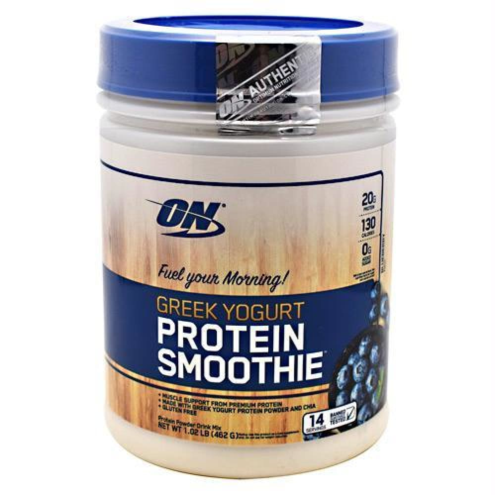 Optimum Nutrition Greek Yogurt Protein Smoothie Vanilla - Gluten Free - Blueberry / 14 ea - Supplements