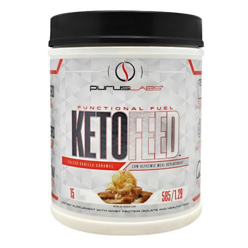 Purus Labs KetoFeed Salted Vanilla Caramel - Salted Vanilla Caramel / 15 ea - Supplements