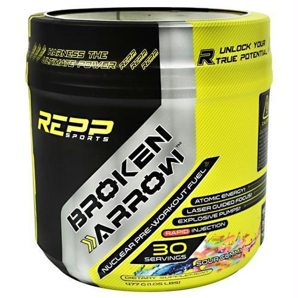 Repp Sports Broken Arrow Lime Ice - Sour Gummy / 30 ea - Supplements