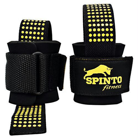 Spinto USA LLC Heavy Duty Lifting Straps Black - Black - Accessories
