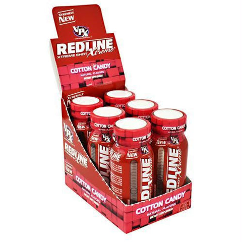 VPX Redline Xtreme Shot Sour Heads - Cotton Candy / 24 ea - Liquid Shot