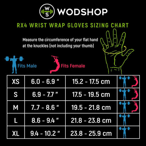 Image of WODshop RX4 - Wrist Wrap Gloves - Gear