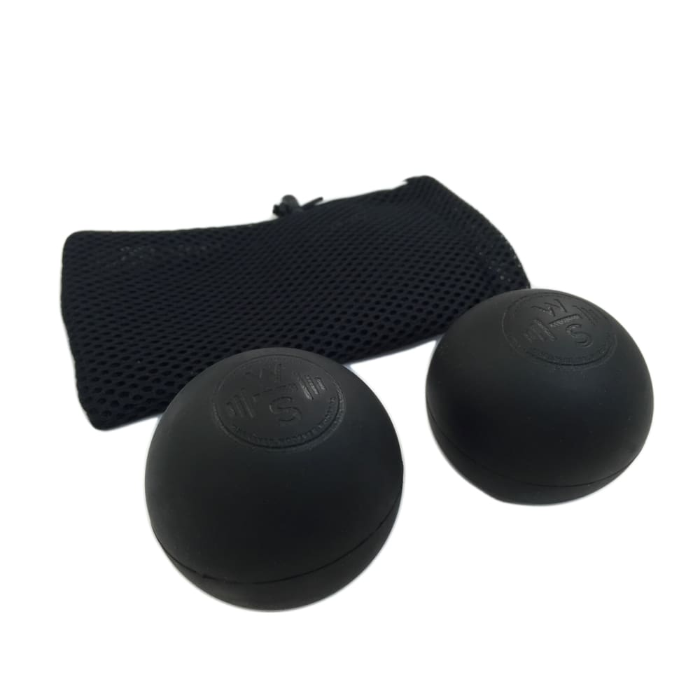 WODshop Self Care Massage Ball Kit of 2 Balls for Mobility Physical Therapy - Set of 2 - 2 Black - Gear