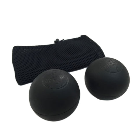 Image of WODshop Self Care Massage Ball Kit of 2 Balls for Mobility Physical Therapy - Set of 2 - 2 Black - Gear