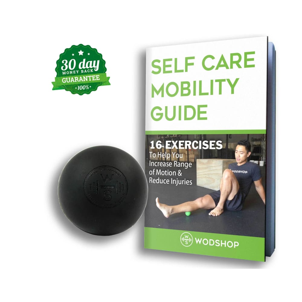 WODshop Self Care Massage Ball Kit of 2 Balls for Mobility Physical Therapy - Set of 2 - Gear