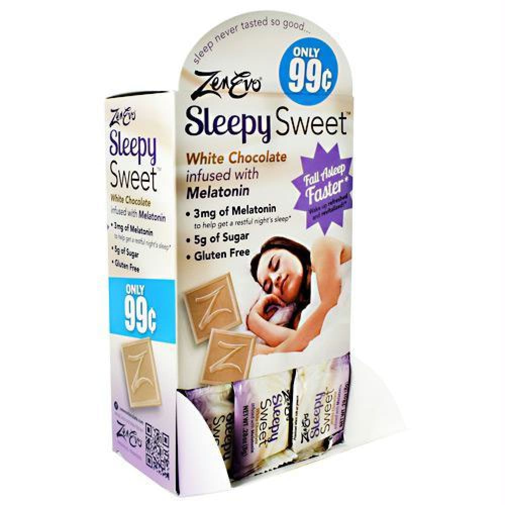 Zenevo Sleepy Sweet White Chocolate - Gluten Free - White Chocolate / 50 ea - Snacks / Foods