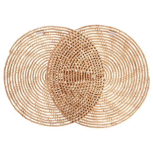 Palm Fiber Round Placemats - Set of Two - AboutRuby.com