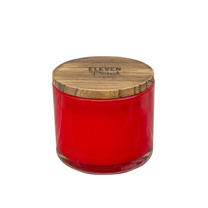 Boutique Candle ~ Willow Woods ~ Red - AboutRuby.com
