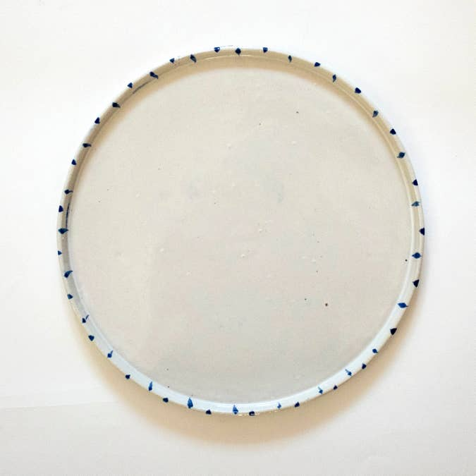 Brush Stroke White Porcelain Platter - AboutRuby.com