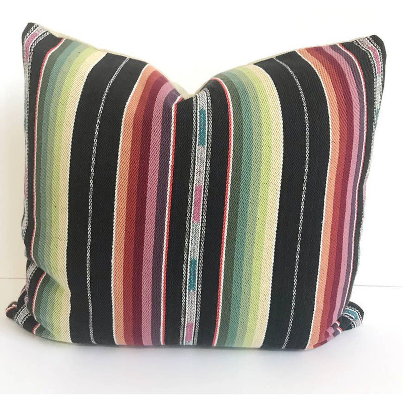 Black Southwestern Bohemian Pillow