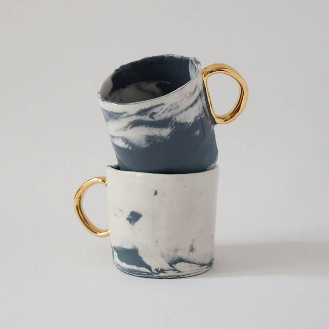 Marbled Night Espresso Mugs - Set of Two - AboutRuby.com