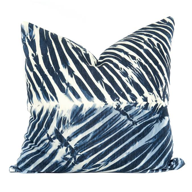 "Shibori ""Three"" Beach House Throw Pillow - 1 pc. - AboutRuby.com"