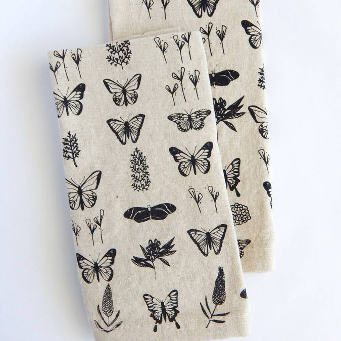 Butterfly Linen Napkins - Set of 4 - AboutRuby.com