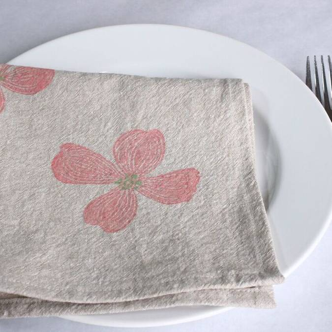 Dogwood Linen Napkins - Set of 4 - AboutRuby.com