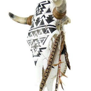 Ganado Hand Painted Cow Skull - AboutRuby.com