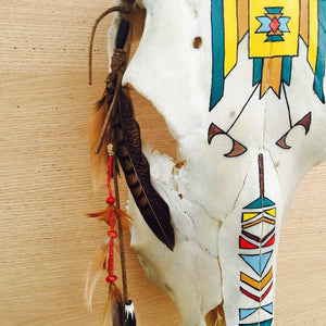 """Hunter 2"" Hand Painted Cow Skull - AboutRuby.com"