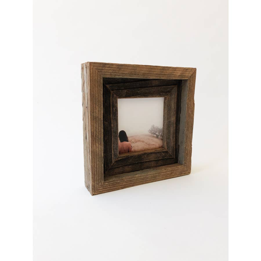 "4"" x 4"" Reclaimed Wood Double Frame - AboutRuby.com"