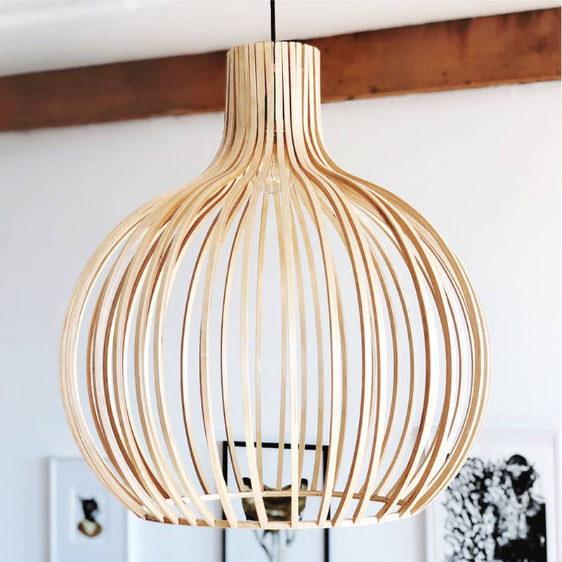 Wood Hanging Light - AboutRuby.com