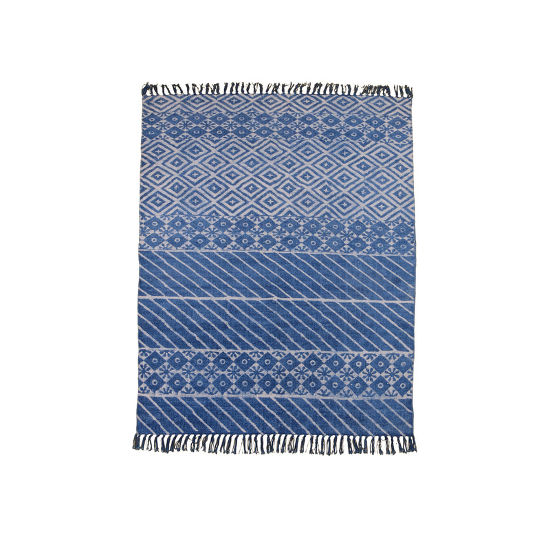 Area Rug in Block Print #13 - AboutRuby.com