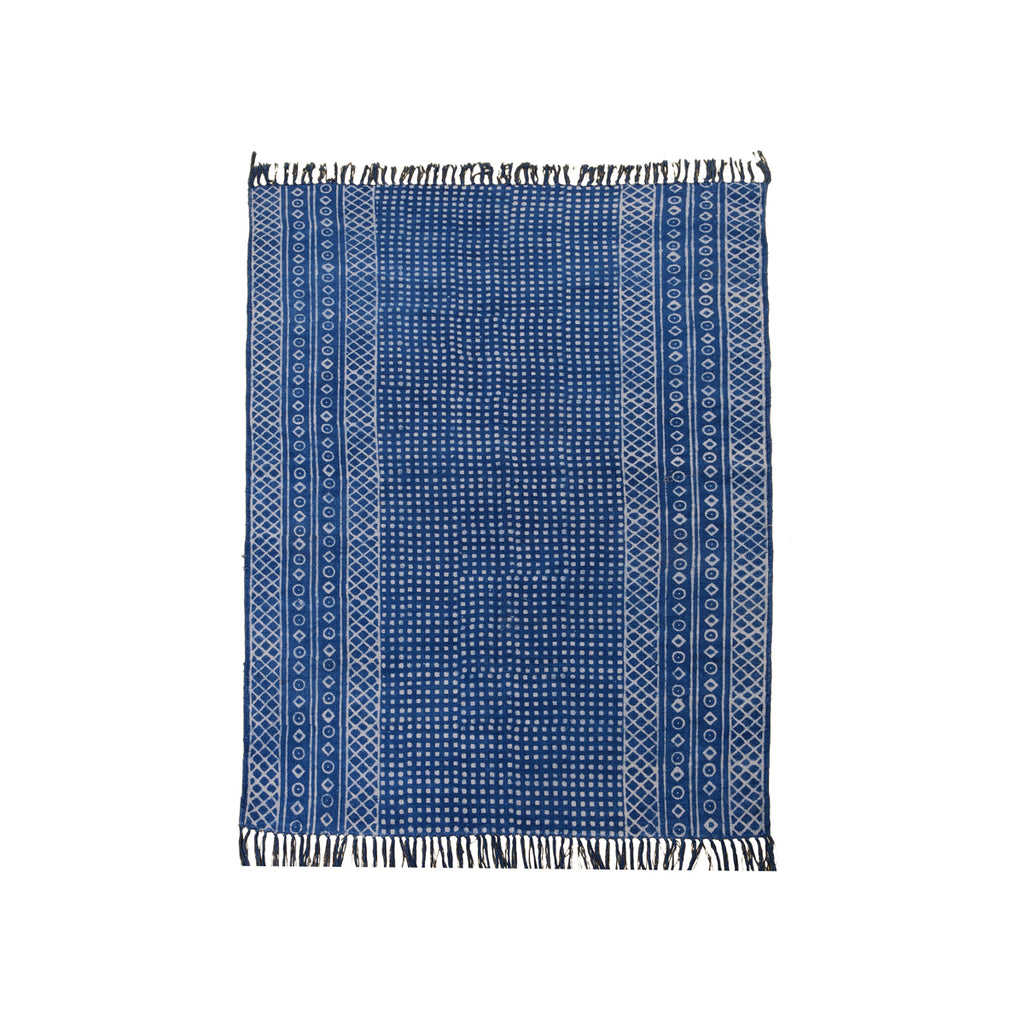 Area Rug in Block Print #9 - AboutRuby.com