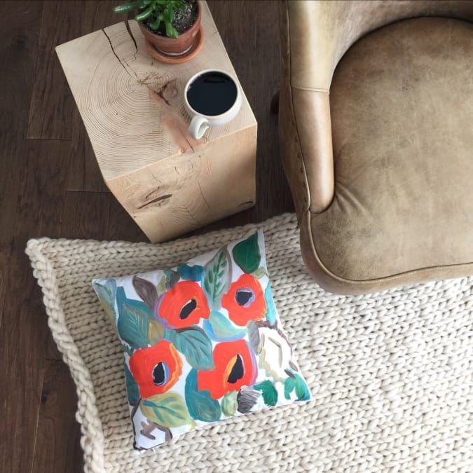 Poppy Pillow Cover (1 pc.) - AboutRuby.com