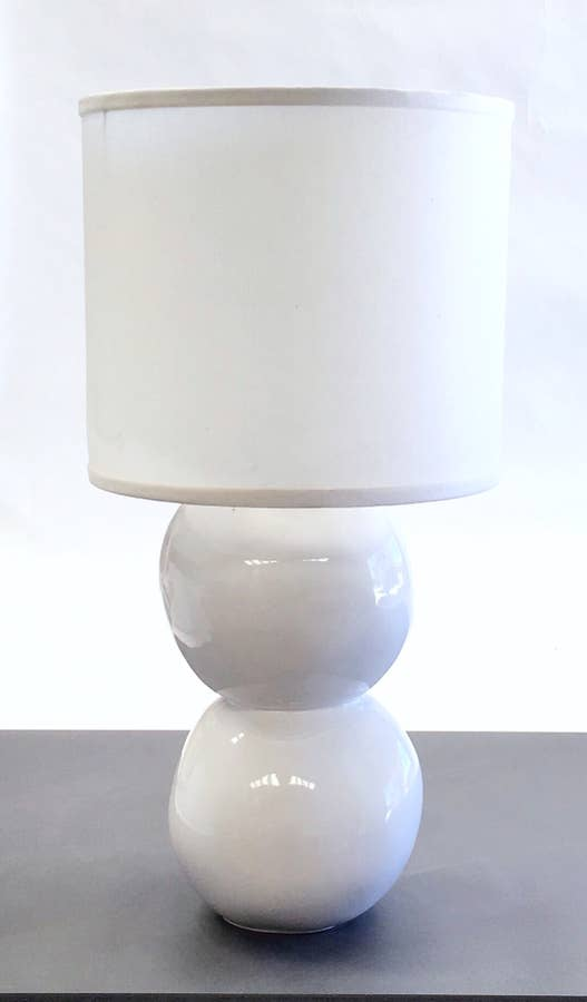 Double Sphere Lamp in Buttercream