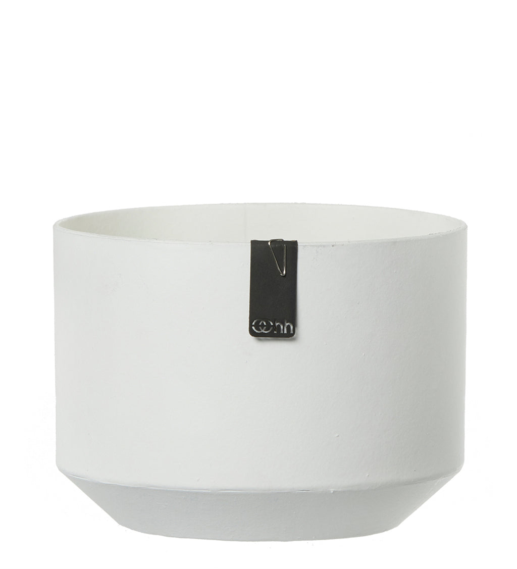 Paper & Latex Pot in White - AboutRuby.com