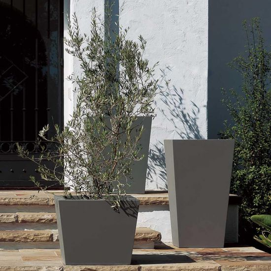 Chamfered Planter in Urban Grey - AboutRuby.com