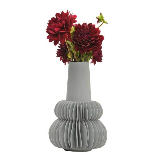 Britannia Accordion Vase in Fog - AboutRuby.com