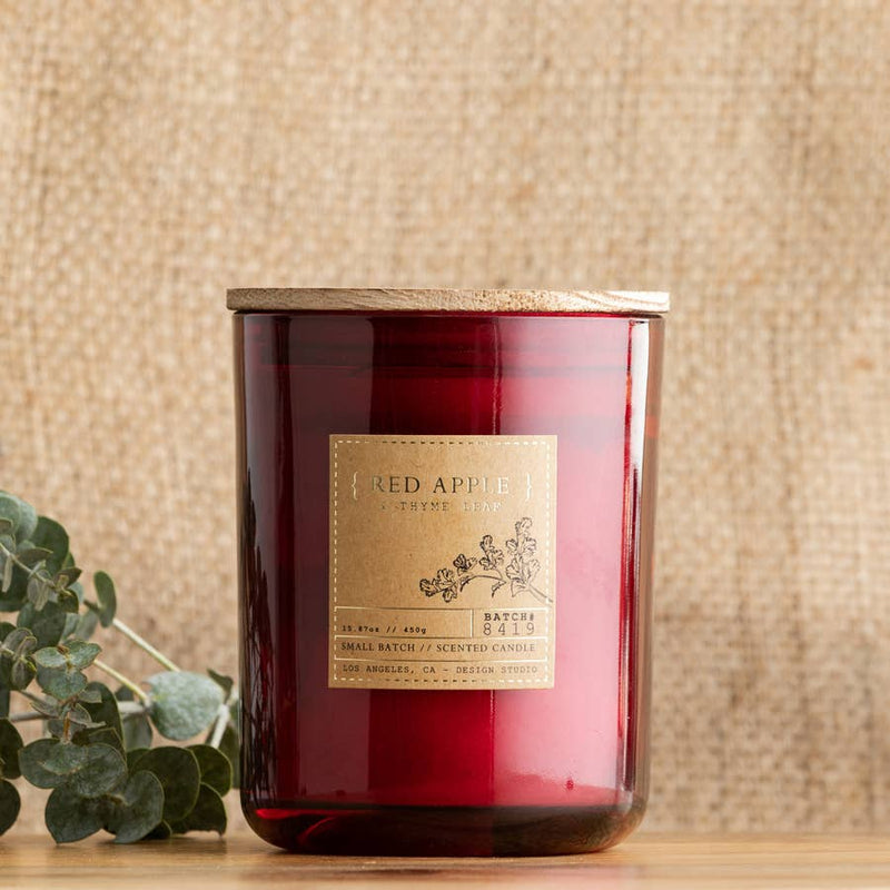 Red Apple & Thyme Leaf Candle