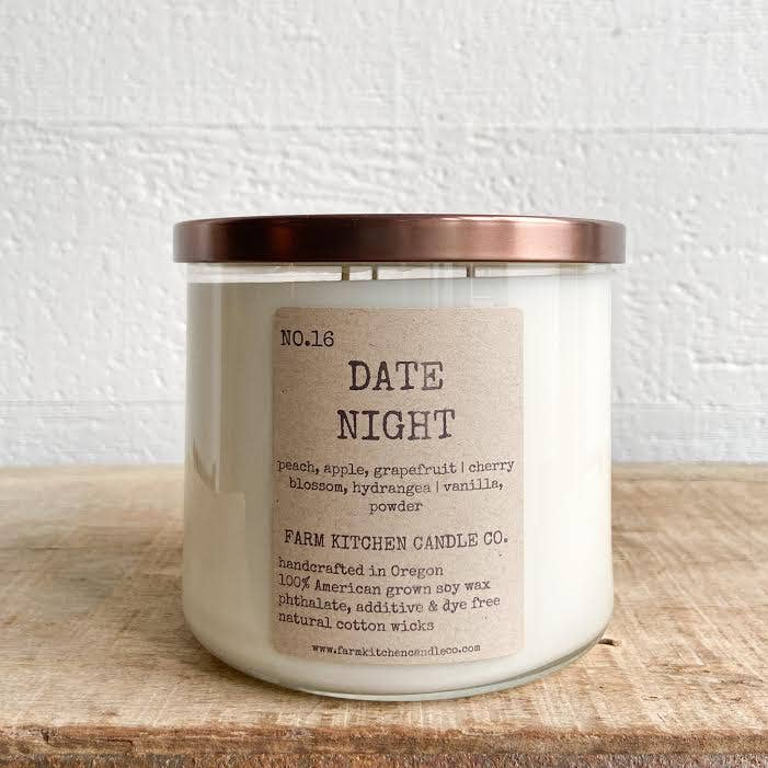 Date Night Soy Candle - 17 oz. Triple Wick