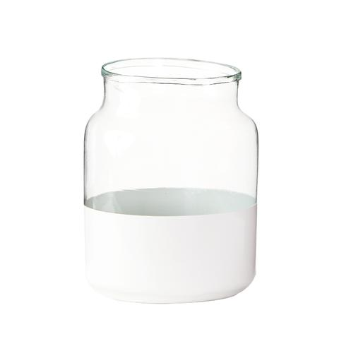 White Colorblock Vase - AboutRuby.com