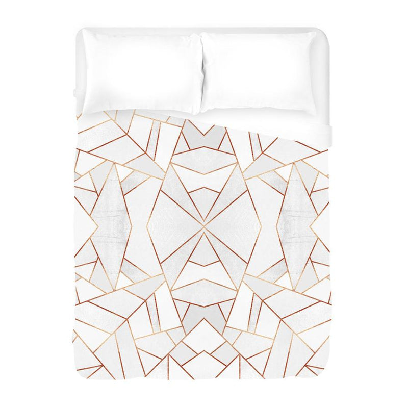 White Stone Duvet Cover - AboutRuby.com