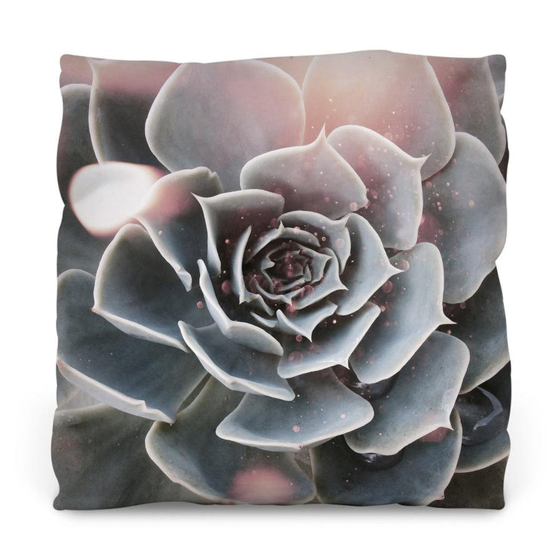 Shiny Succulent Outdoor Throw Pillow - AboutRuby.com