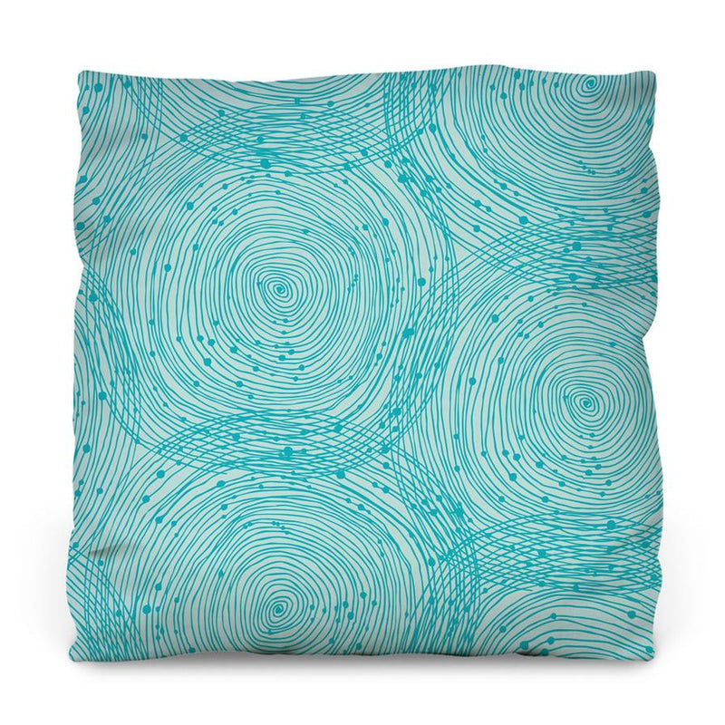 Turquoise Spirals Throw Pillow - AboutRuby.com