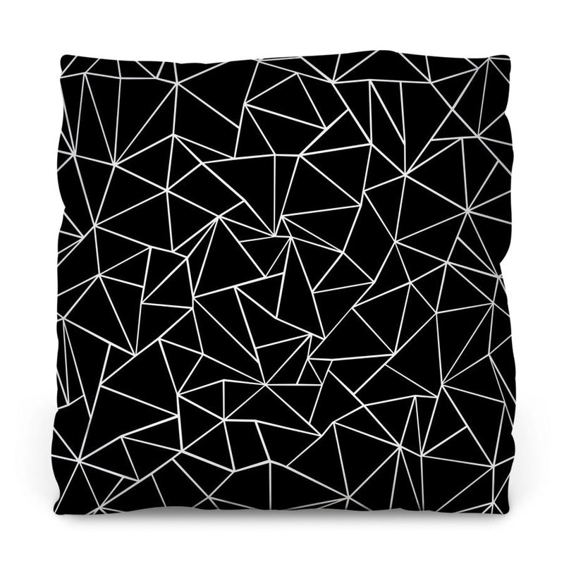 Ab Outlines Black Throw Pillow - AboutRuby.com