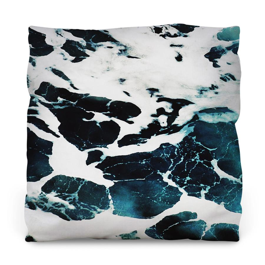 Ocean Waves Outdoor Throw Pillow - AboutRuby.com