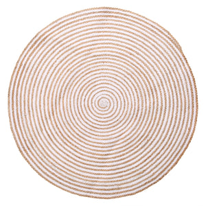Lg. Jute / Cotton Round Carpet - Natural Brown - AboutRuby.com