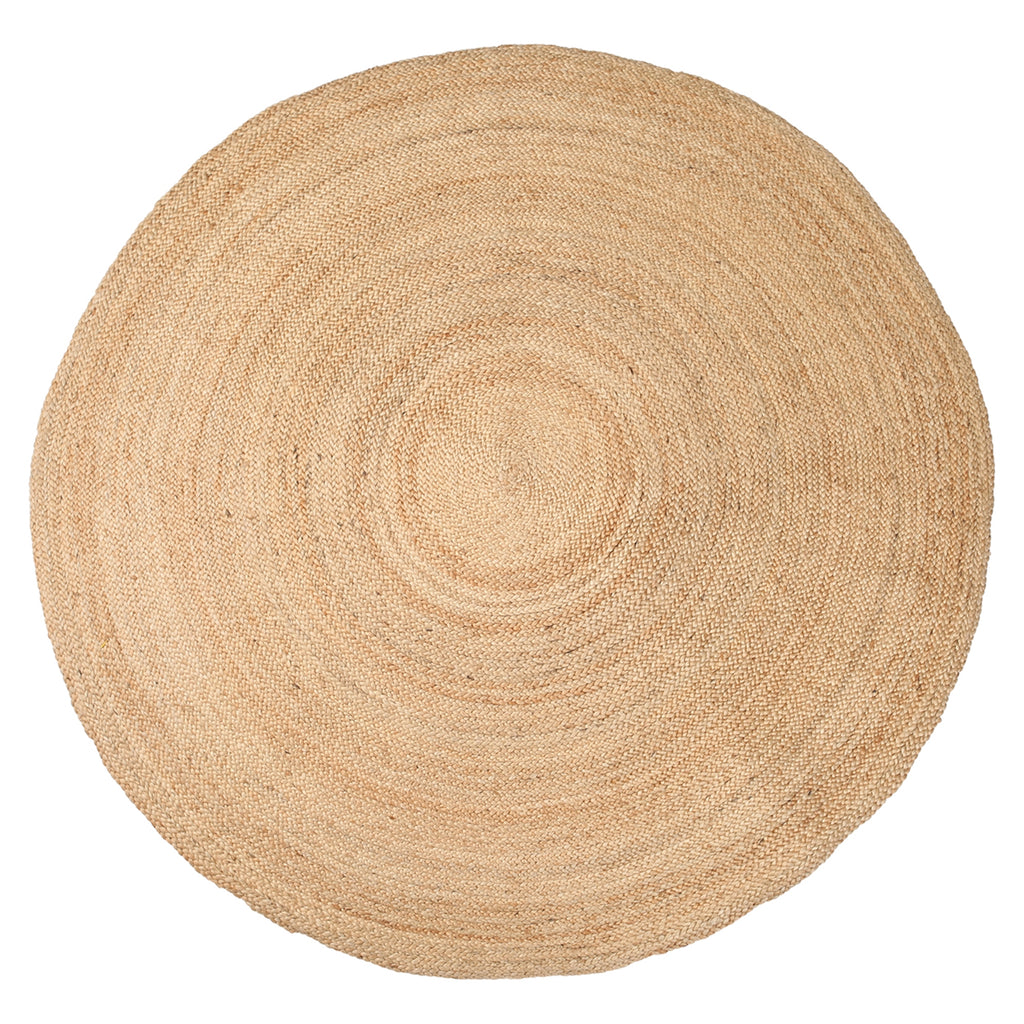 X-Lg. Jute Hanoi Round Carpet in Natural - AboutRuby.com