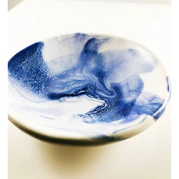 Blue Swirl Glaze - Ring Dish - AboutRuby.com