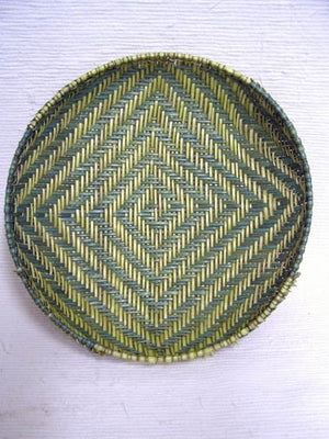 Native American Hopi Made Sifter Basket - 15 in. dia. x 3.25 in. deep - AboutRuby.com