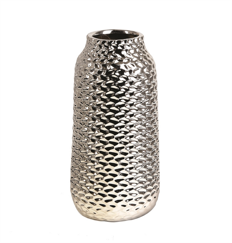 Bino Vase in Silver - AboutRuby.com