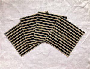Blue Stripe Cocktail Napkin - Set of 4 - AboutRuby.com