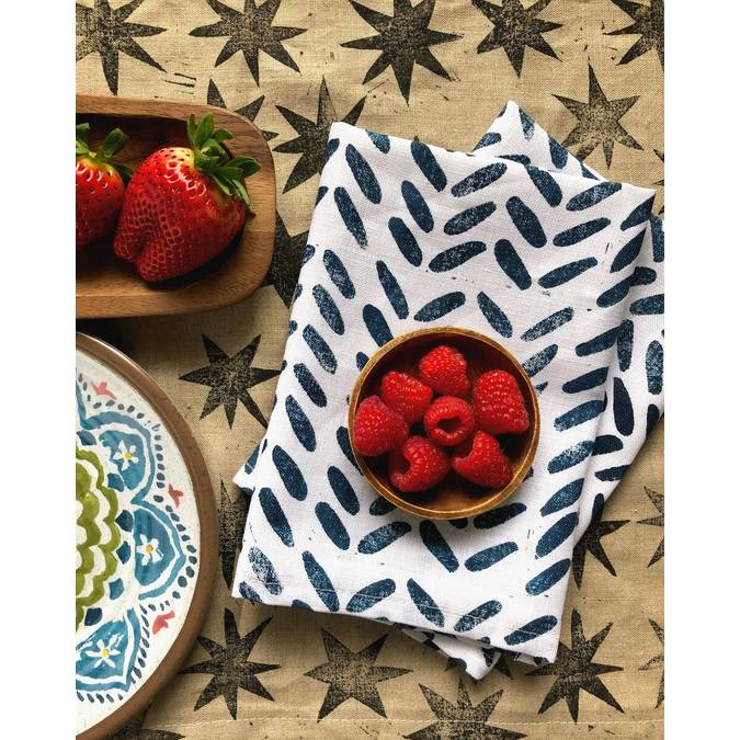 Blue Boomerang Napkins - Set of 4 - AboutRuby.com