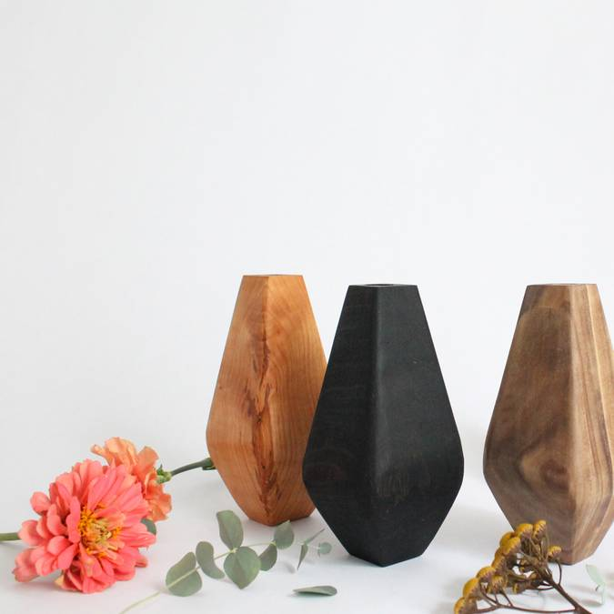 Wooden Bud Vase - AboutRuby.com