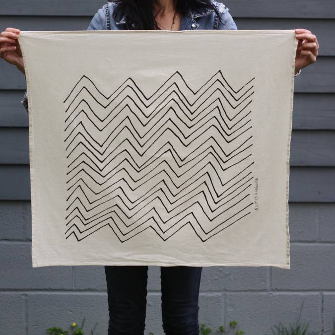 Chevron | Organic Cotton Tea Towel - AboutRuby.com