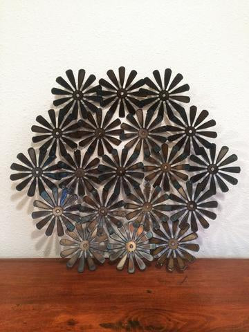 Modern Eclectic Steel Daisy Bowl