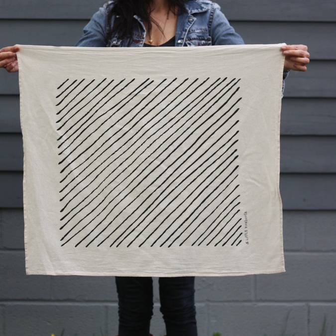Diagonal Stripe | Organic Cotton Tea Towel - AboutRuby.com