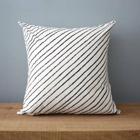 Diagonal Stripe | Organic Cotton Pillow - AboutRuby.com
